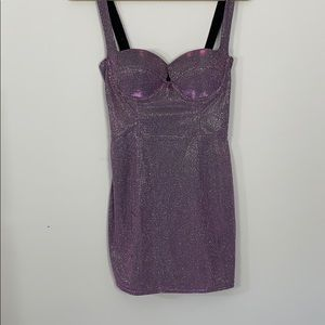 sparkle mini dress - bodycon fit
